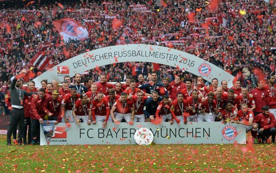 """""""Bayern"""" futbolininkai – Vokietijos čempionai"""