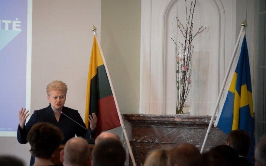 Dalios Grybauskaitės vizitas Švedijoje. R. Dačkaus nuotr.