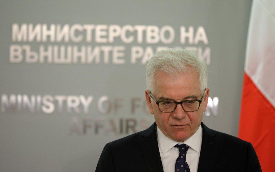 Žiniasklaida: Lenkijos užsienio reikalų ministras taip pat nevyks į Minską