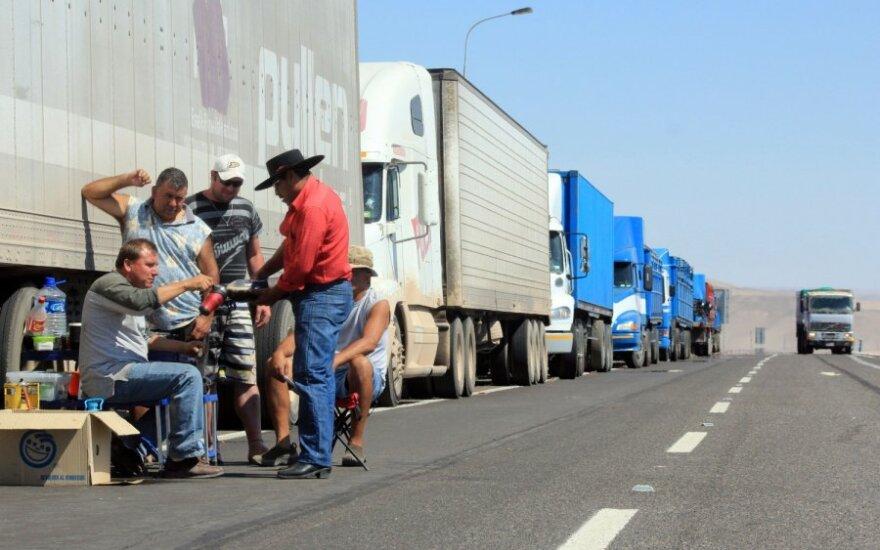 Vairuotojai kyla prieš vežėjų įmones: eis į mitingą