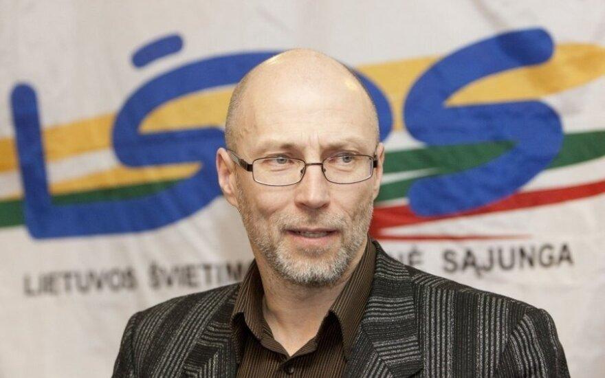 Audrius Jurgelevičius, leader of the teachers' trade union
