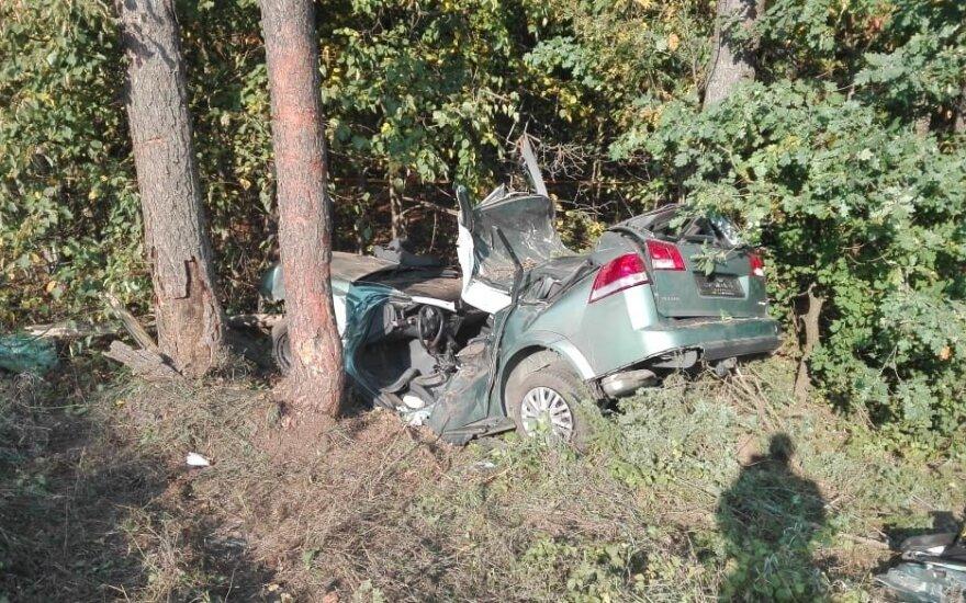 """Tragedija šalia Perlojos: žuvo 18-metis """"Opel"""" vairuotojas"""