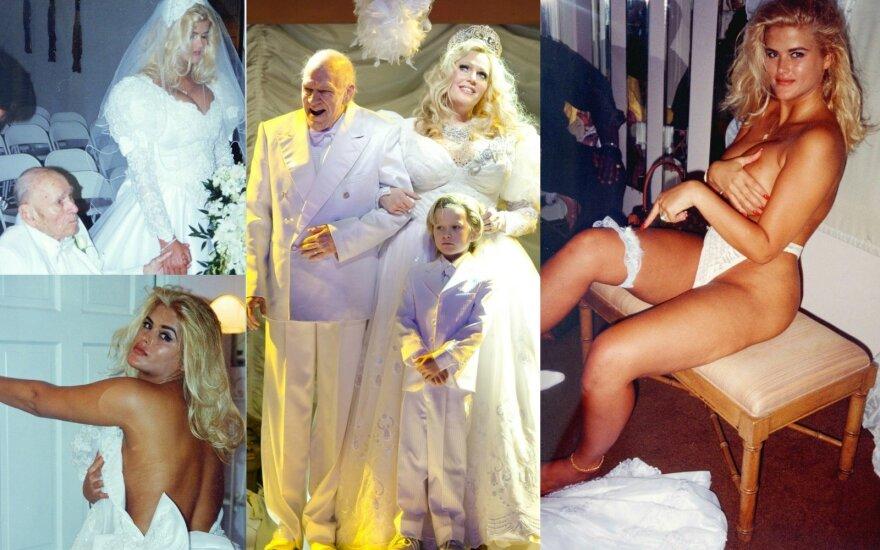 Nematyti Anna Nicole Smith ir J. Howardo Marshallo vestuvių kadrai