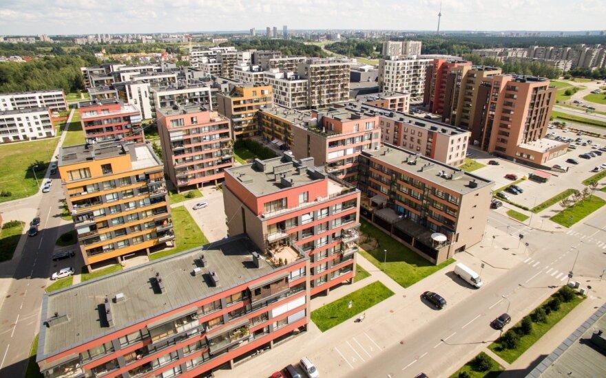 Registrų centras: Vilniuje mažėja naujų butų kainos