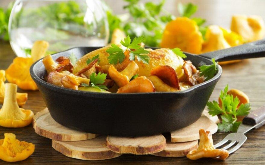 Bulvių apkepas su voveraitėmis