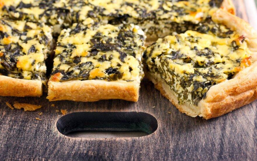 Greitas špinatų ir sūrio apkepas