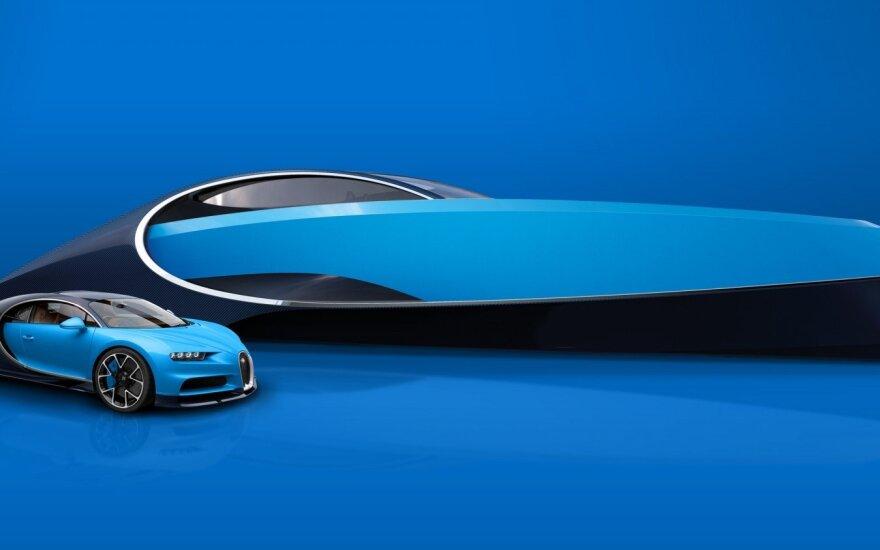 """""""Bugatti Chiron"""" šalia """"Bugatti Niniette 66"""""""