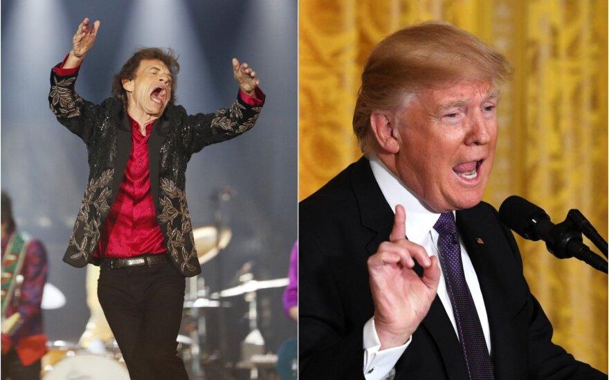 """The Rolling Stones"" ir Donaldas Trumpas"