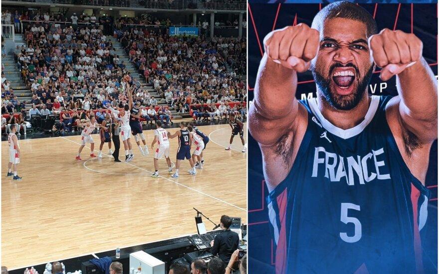 Prancūzijos krepšinio rinktinės kontrolinės rungtynės su Juodkalnija, Nicolas Batumas
