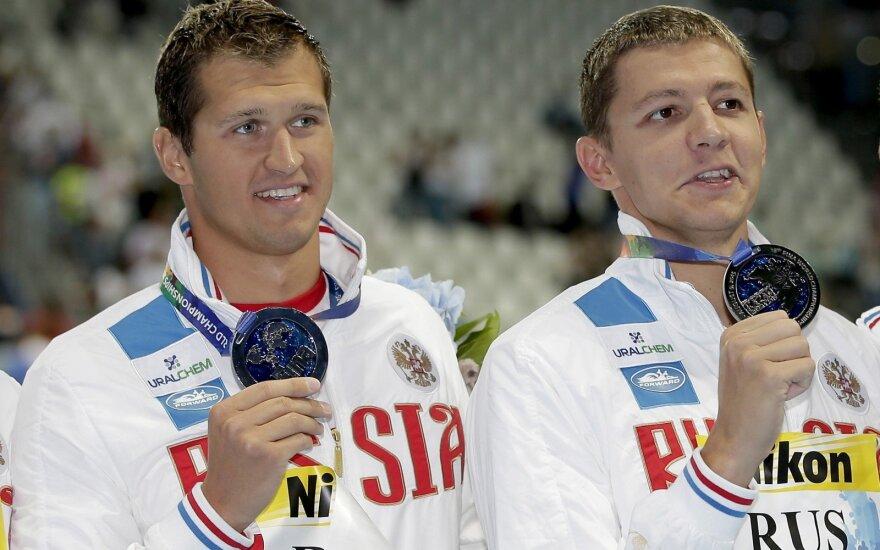 Nikita Lobincevas (kairėje) ir Vladimiras Morozovas