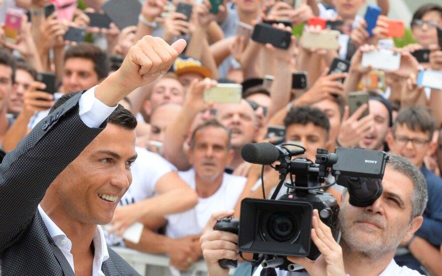 Cristiano Ronaldo atvyko į Turiną