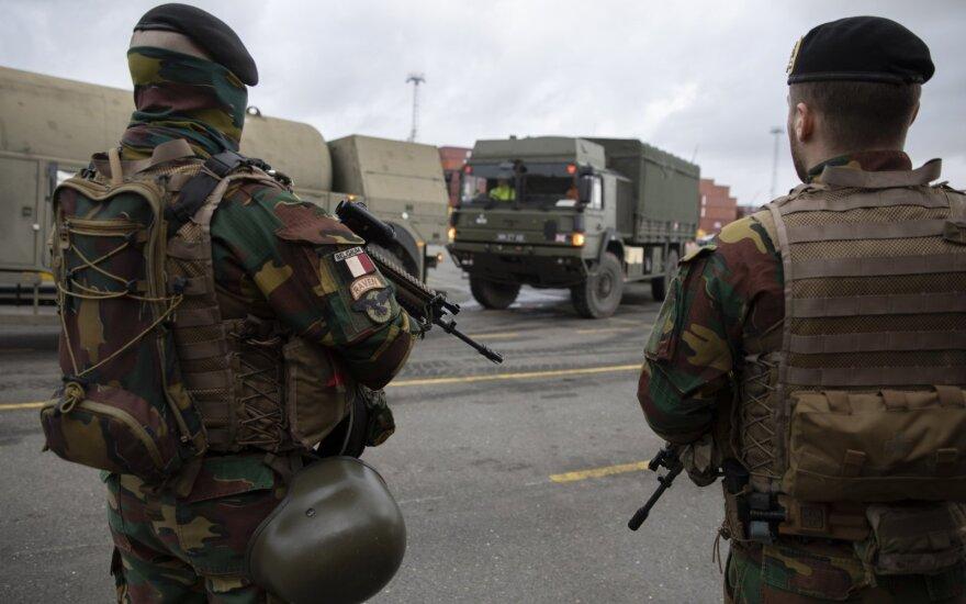 """Belgų kariai ruošiasi pratyboms """"Defender Europe 2020"""""""