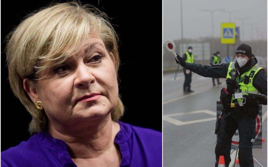 Vilniuje girta prie automobilio vairo sustabdyta Edita Mildažytė