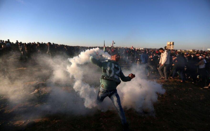 Protestai Gazos ruože