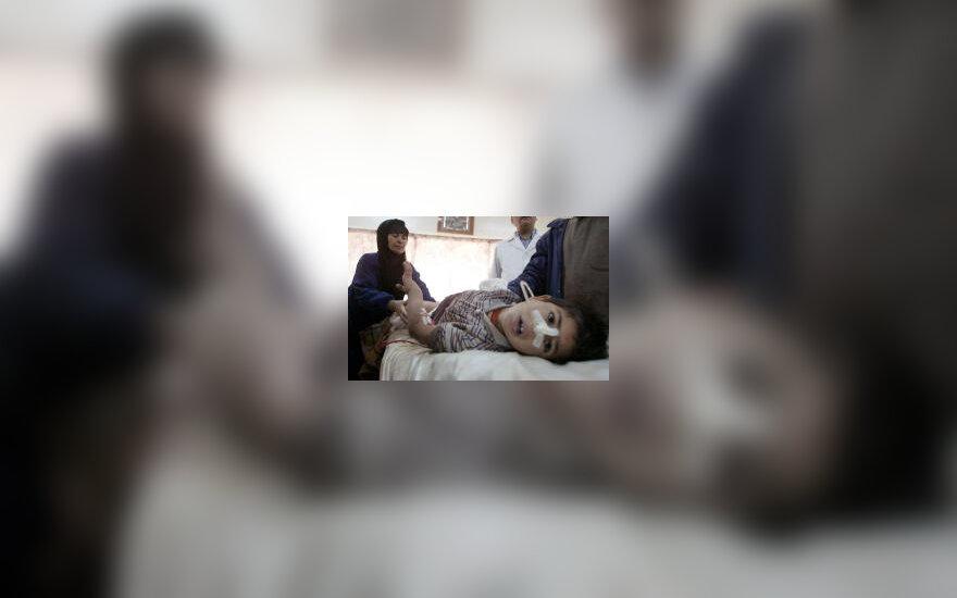 Sužeistas irakiečių vaikas