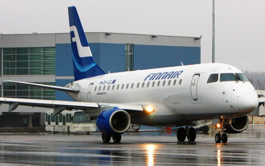 """Dėl stipraus snygio """"Finnair"""" atšaukia skrydžius"""