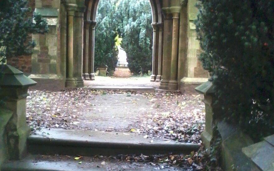 Nustebino vaizdas Anglijos kapinėse