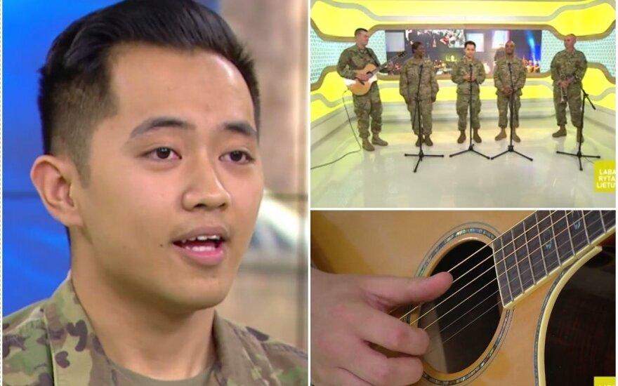 """""""Labo ryto"""" žiūrovų širdis užkariavo J. Bieberio dainą atlikę JAV kariai"""