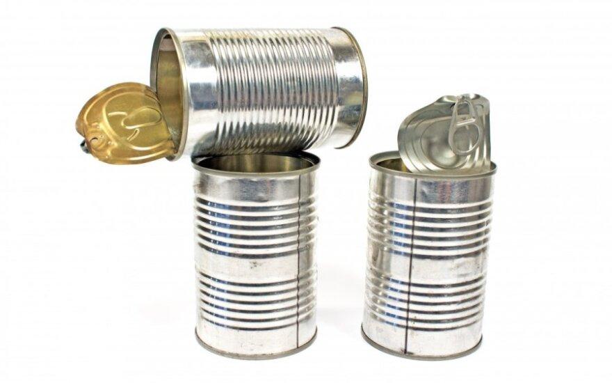 Mažins taršos mokestį už metalines pakuotes