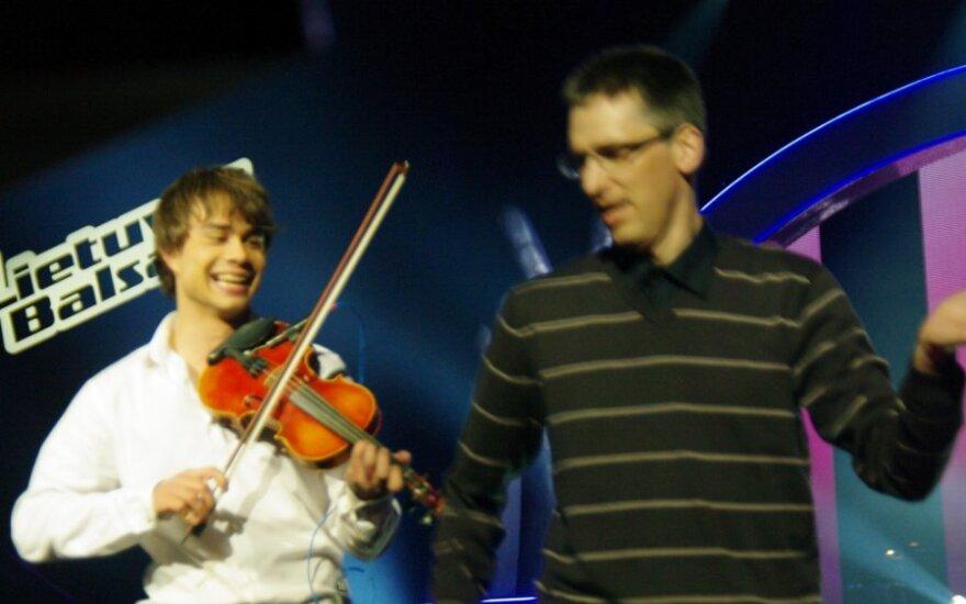 Žiūrovo šou per Alexanderio Rybako koncertą Vilniuje.