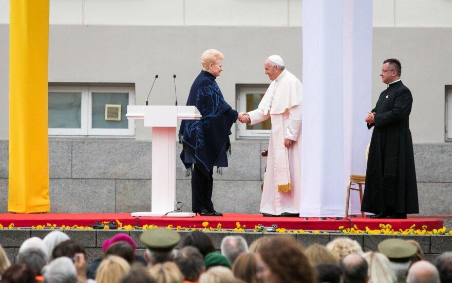 Dalia Grybauskaitė meeting Pope Francis