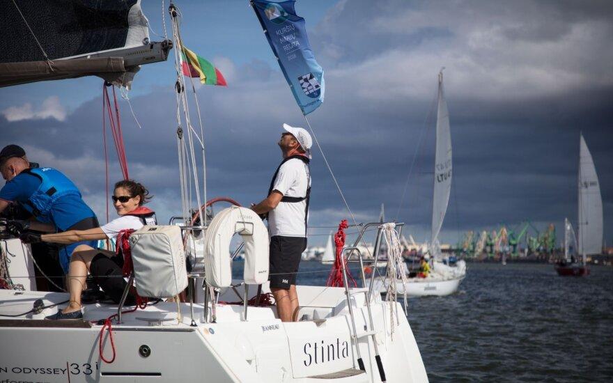 Kuršių marių regata, artėjant starto akimirkai (organizatorių nuotr.)