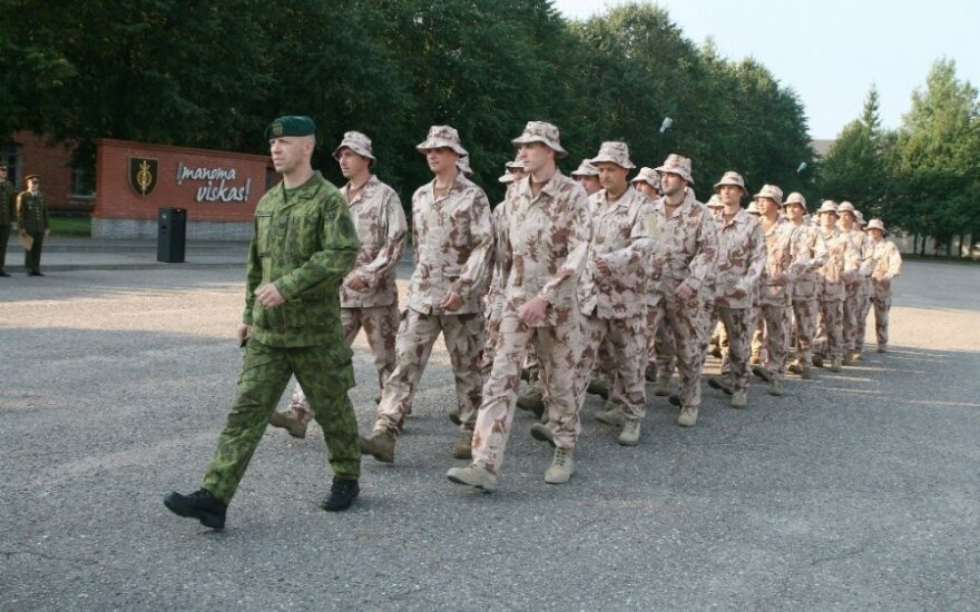 Lithuanian army holds mobilization drill