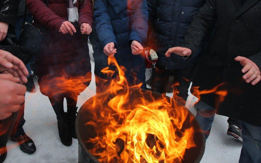 Kijevo centre Molotovo kokteiliais apmėtyta cerkvė
