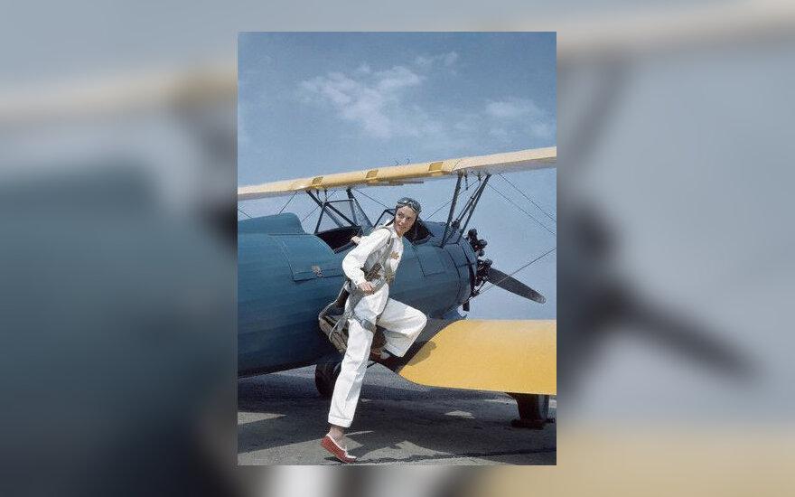 Moteris pilotė, lėktuvas