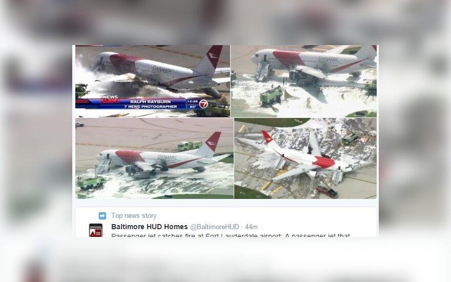 Užsidegė Dynamic International Airways Boeing 767 lėktuvas