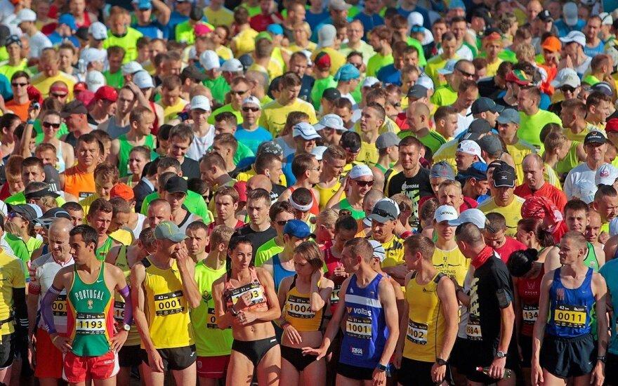 Bėgikai prieš startą
