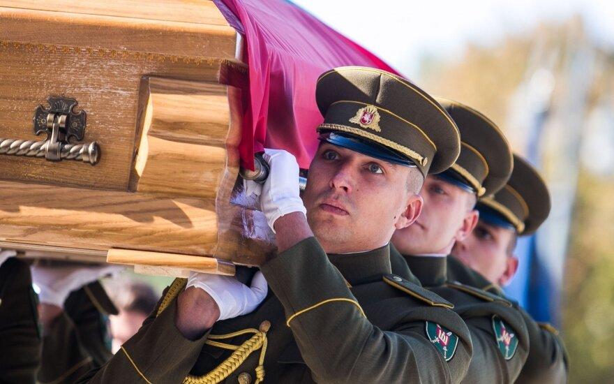 State funeral for anti-Soviet partisan commander Adolfas Ramanauskas-Vanagas