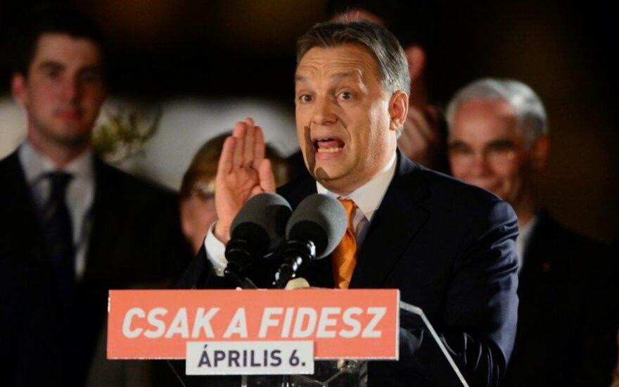 Rinkimus Vengrijoje laimėjo V. Orbano partija Fidesz