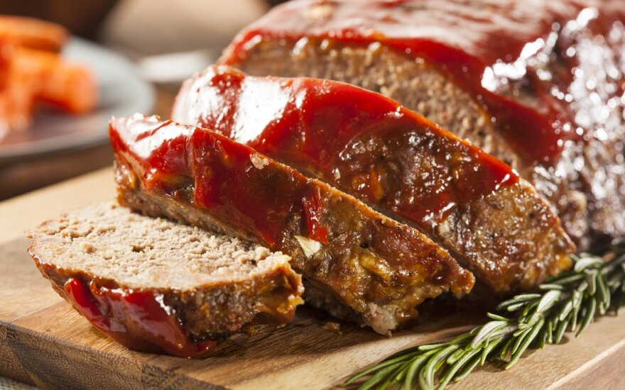 """Lengvai pagaminamas maltos mėsos kepsnys - """"netikras zuikis"""""""