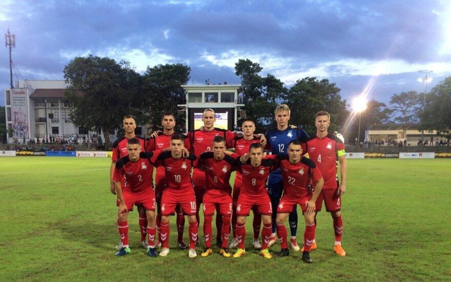 Lietuvos futbolo rinktinė Šri Lankoje