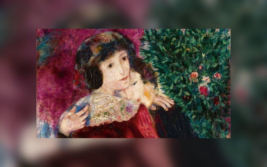 """Marco Chagallo paveikslas """"Įsimylėjėliai"""""""