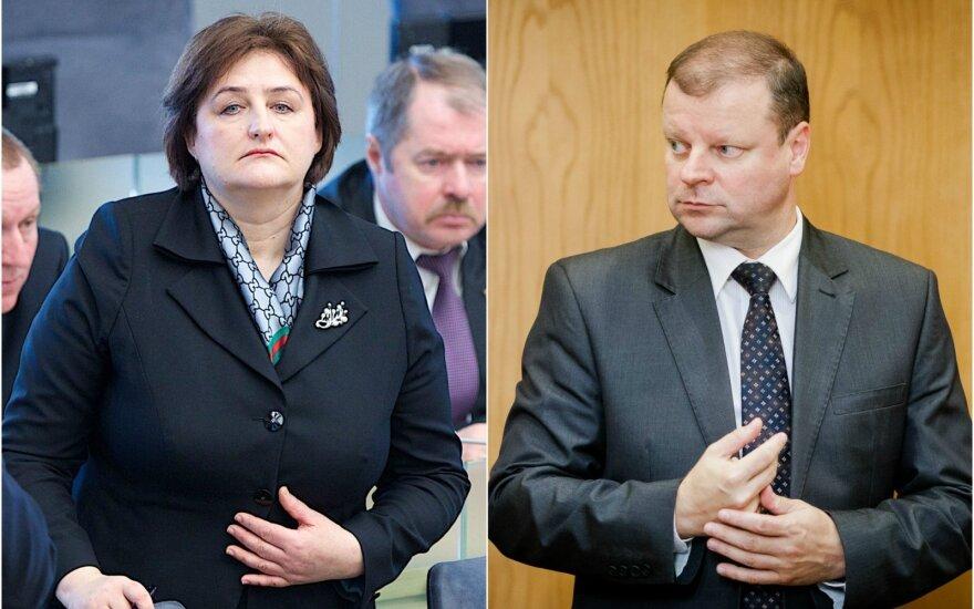 Loreta Graužinienė and Saulius Skvernelis