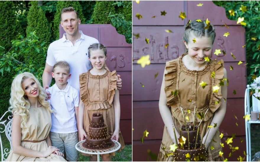 Ingos Stumbrienės dukters šokoladinė gimtadienio šventė