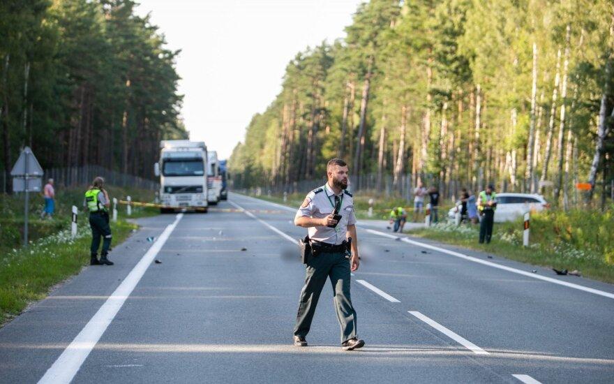 Tragiškas įvykis kelyje Palanga–Šventoji: žuvo dviratininkas ir motociklininkas