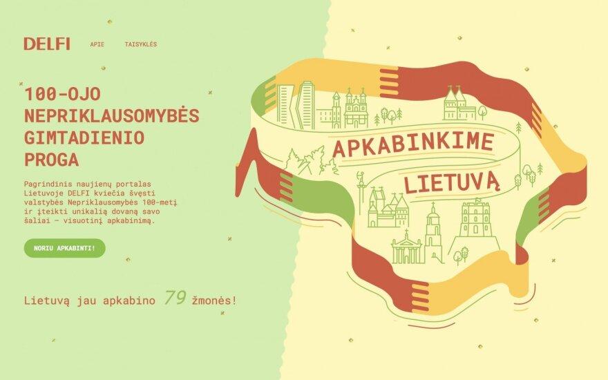 DELFI kviečia Nepriklausomybės 100-mečio proga apkabinti Lietuvą