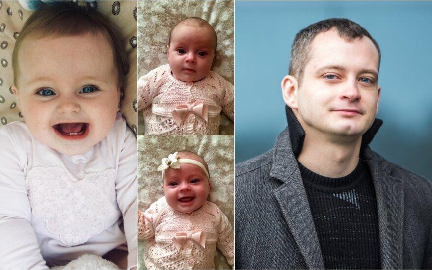 Arūnas Valinskas jaunesnysis ir jo dukra Sofija / Foto: asm. archyvo, DELFI