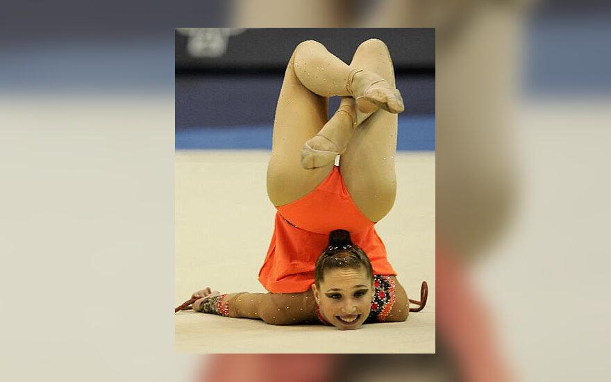 Izraelio atstovė Irina Risenson 27-ojo Pasaulio ritminės gimnastikos čempionato Baku metu.