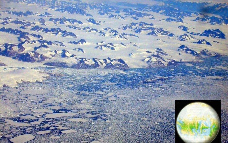 Taip atrodė Lietuva pradėjus tirpti paskutiniam ledynui, prieš 14000 m.
