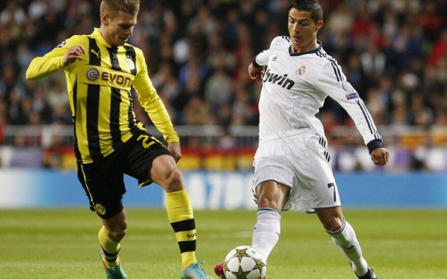 Lukaszas Piszczekas ir Cristiano Ronaldo