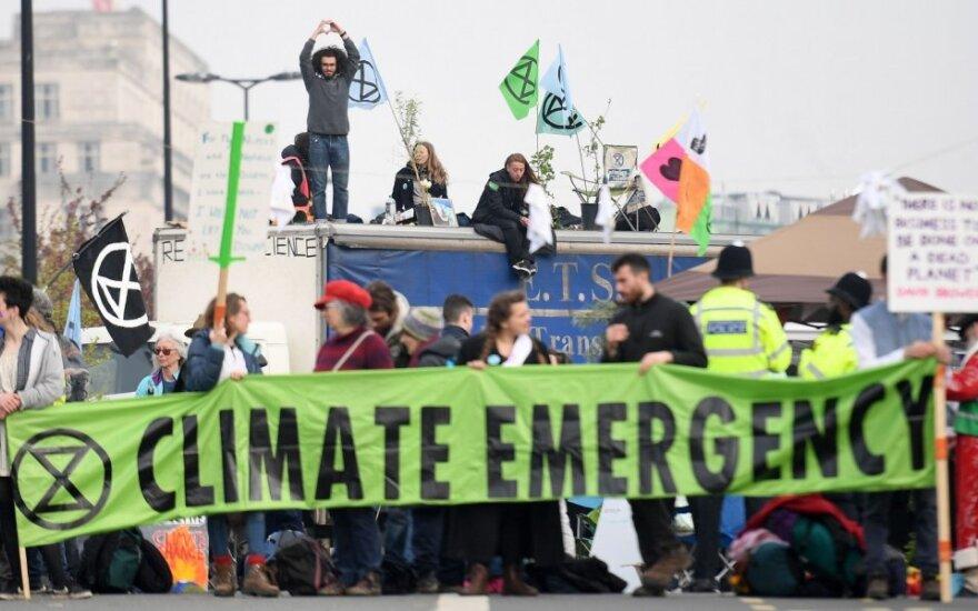 Protestą prieš klimato kaitą Londone