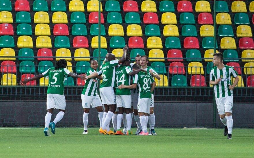 """8 įvarčiais pasismaginęs """"Žalgiris"""" iškopė į LFF taurės pusfinalį"""