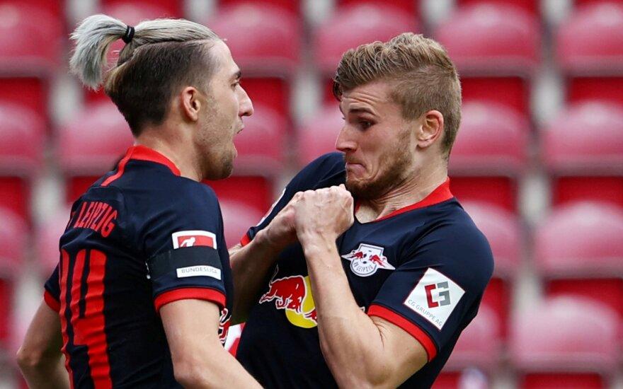 """Wernerio """"hat-trickas"""" pakėlė """"Leipzig"""" į trečią vietą"""