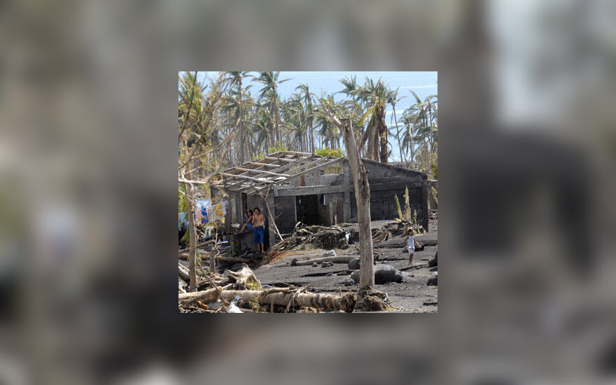 """Taifūno """"Durian"""" nušluotas miestelis Filipinuose"""