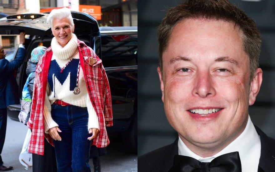 Elonas Muskas ir Maye Musk