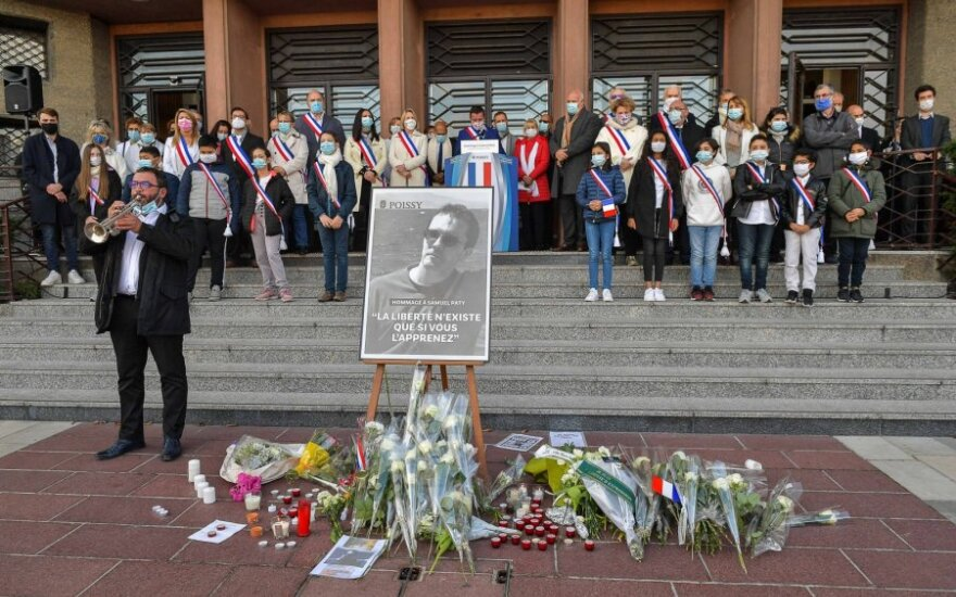 Prancūzai gedi nužudyto Samuelio Paty